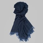 Begg & Co - Kishorn cashmere scarf denim blue