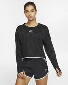 W NK AIR MIDLAYER CREW BLACK/REFLEC