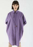 IVY oversize button detail shirt lilac