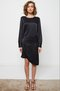 asymmetrical apron dress - black