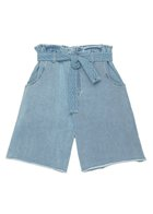 TRACY paperbag waist shorts blue