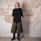 ARMY GRID LOOSE TROUSERS
