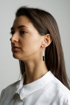 COLLECTION - A / STRUCTURE 1. / glossy-platinum / earring white