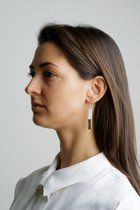 COLLECTION - A / STRUCTURE 1. / glossy-gold / earring white