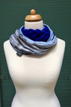 Women Loop Scarf SD4110TD - tie dye/royal blue