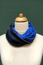Man Loop Scarf SD4210BBGS - Dlack-blue-grey stripped/royal blue