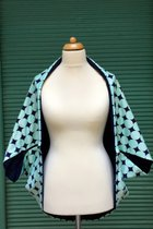 Yoga Cardigan SD5016PD - Polka dots/dark blue