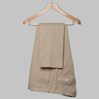 Gabardine cotton trousers British khaki