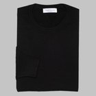 Gran Sasso - Regular fit Merino wool roundneck sweater black