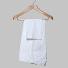 Gabardine cotton trousers white
