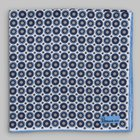 Petronius 1926 - Star motif pocket square blue/white