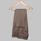 Wool cover trousers tobacco