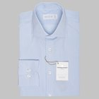 Simon Skottowe -Giza 87 striped shirt light blue