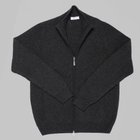 Gran Sasso - Wool cashmere zip cardigan charcoal