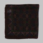 Fiorio - Paisley pocket square brown