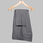 Wool flannel trousers light grey