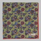 Petronius 1926 - Paisley pocket square green