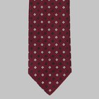 Drake's - Woven flower motif tie red
