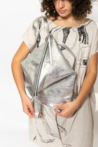 DELTA BACKPACK Crushed silver leather