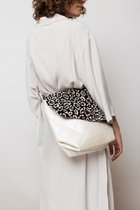 MINI BAG WITH FUR COVER White with dotted fur cover