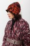 Tanja hat - Rust and black warm hat