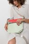 MINI BAG WITH SMALL COVER - White dotted with corall colibri cover