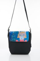 MINI BAG WITH COVER Black & girl in mask cover