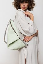 DELTA BACKPACK Mint green dotted