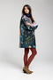 FOREST short coat - Printed fabric coat