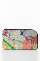 BASIC PURSE WITH ZIP Multicoloured deer printed