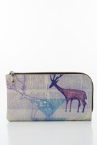 BASIC PURSE WITH ZIP Pastell deer printed