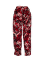 Milla flowered pants  - Red jungle