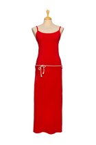 DANUTA maxi dress red