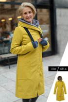 GERTRUD winter coat mustard yellow-gray