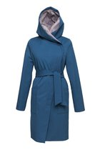 GERTRUD winter coat turquoise-gray