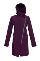 FIODA coat aubergine purple